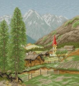 Схема Деревня в горах