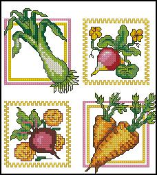 Схема Овощной сэмплер для кухонной салфетки
