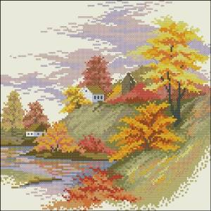 Схема Осенний пейзаж
