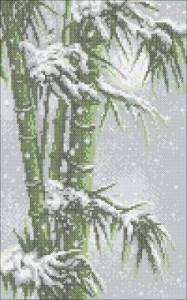 Схема Заснеженный бамбук