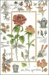 Садовый сэмплер с розой