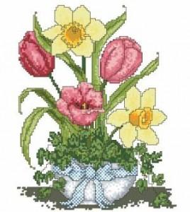 Схема Сезонные букеты. Весенний