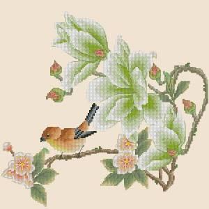 Подушка с птичкой