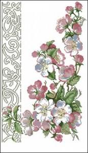 Схема Цветущая яблоня