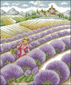 Схема Девушка в лаванде