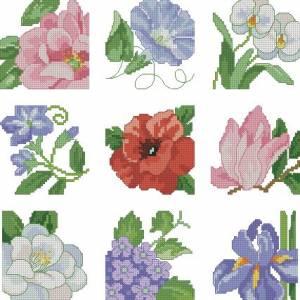 Схема Миниатюрные цветы