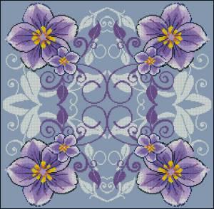 Схема Лиловые цветы