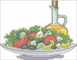 Схема Салат с оливковым маслом
