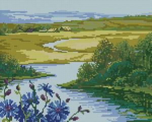 Схема Деревня у реки