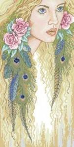 Схема Девушка с розами