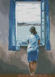 Схема Девушка у окна / Muchacha en la ventana