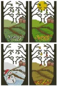 Схема Четыре сезона Домики