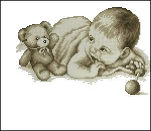 Схема Малыш с мишкой