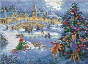 Схема Накануне Рождества на катке