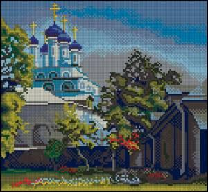 Тихий дворик монастыря