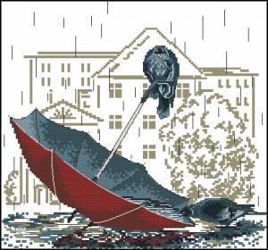 Схема Птицы на зонтике