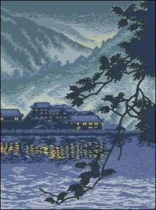 Схема Закат на горном озере