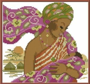 Африканская мадонна с младнцем