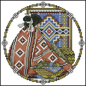Схема Индейская женщина