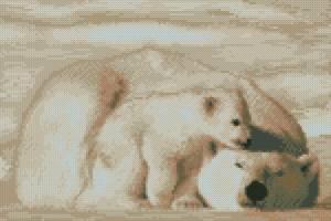 Схема Медведица с медвежонком