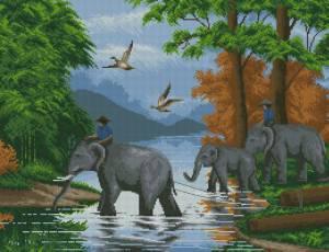Схема Тайские слоны