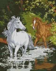 Схема Лошади на реке