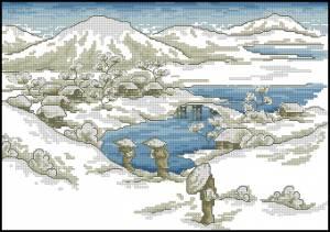 Схема Китайская деревня зимой