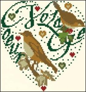 Схема Сердечко с птичками