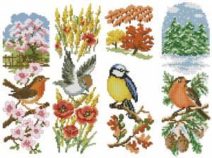 Сезонные панельки с птичками
