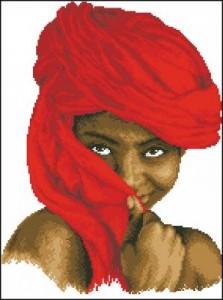 Девочка в красном платке