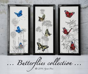 Коллекция бабочек (триптих)