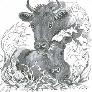 Схема Корова с теленком