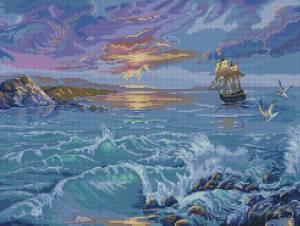 Схема Закат над морем