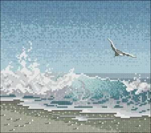 Схема Чайка в море