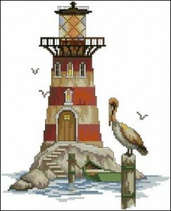 Маячок с пеликаном
