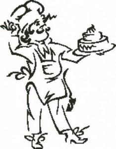 Повар с тортом