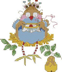 Схема Вышивающая птичка