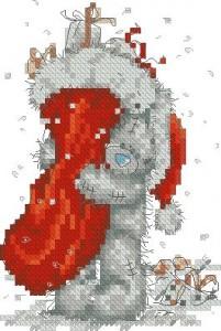 Мишка Тедди. С рождественским носком