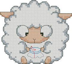 Схема Вышивающая овечка