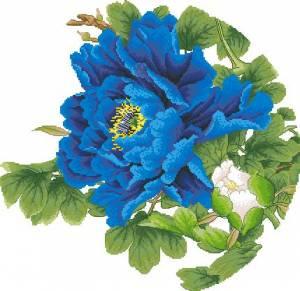 Схема Цветок синий
