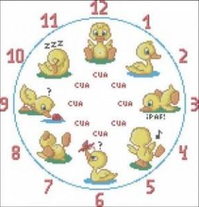 Часы с утятами