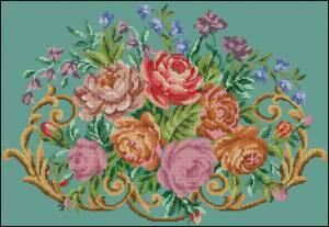 Схема Ретро-цветы