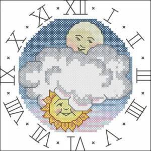 Схема Часы Солнце с Луной