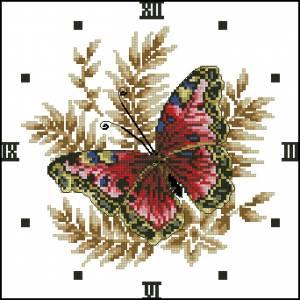 Схема Часы с бабочкой