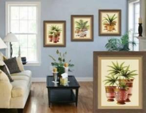 Схема  Комнатные пальмы. Триптих