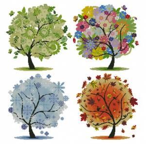 Деревья чертыре сезона