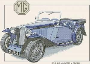 Синий ретроавтомобиль