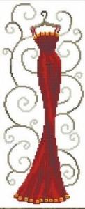 Схема Красное платье