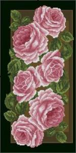 Схема Панель с розами