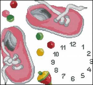 Схема Часики для малышки